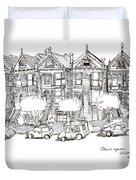 Alamo Square - Painted Ladies Duvet Cover