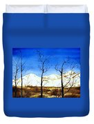 Alaska Blue Sky Day  Duvet Cover