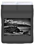 Alaska Bw Grain  Duvet Cover