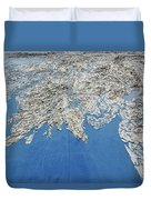 Alaska Map Wall Art Duvet Cover