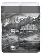 Alaska Railroad Near Whittier Duvet Cover