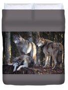 Alaska Wolf Trio Duvet Cover