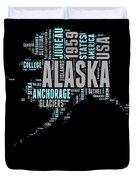 Alaska Word Cloud 1 Duvet Cover