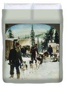 Alaskan Dog Sled, C1900 Duvet Cover