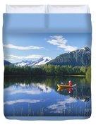 Alaskan Kayaker Duvet Cover