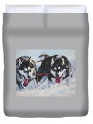 Alaskan Malamute Strong And Steady Duvet Cover