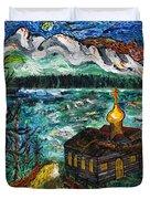 Alaskan Orthodox Church Duvet Cover