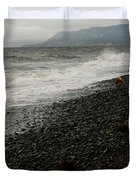 Alaskan Rock Beach Duvet Cover