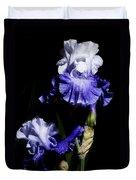 Alaskan Seas Iris  Duvet Cover