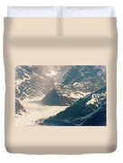 Alasks Glacier Range Denali Nation Park  Duvet Cover