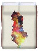 Albania Watercolor Map Duvet Cover