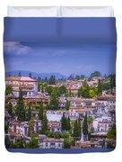 Albayzin View Granada Duvet Cover