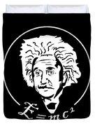 Albert Einstein Discoverer Of The Law Of Relativity Duvet Cover