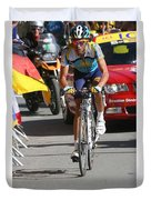 Alberto Contador - Mountain Stage Duvet Cover by Travel Pics