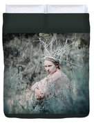 Albino In Forest Duvet Cover