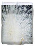 Albino Peacock Duvet Cover