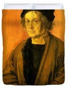 Albrecht Durer Father 1497 Duvet Cover