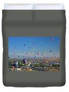 Albuquerque Balloon Fiesta Duvet Cover
