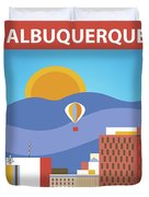 Albuquerque New Mexico Horizontal Skyline Duvet Cover