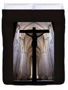 Alcobaca Monastery Church Crucifix Duvet Cover
