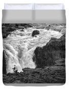 Aldeyjarfoss Waterfall Iceland 3381 Duvet Cover