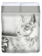 Alert Fox  Duvet Cover
