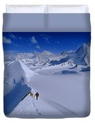 Alex Lowe On Mount Bearskin 2850 M Duvet Cover