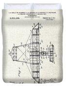Alexander Graham Bell Airplane Patent Print, Plane Patent Blueprint Duvet Cover