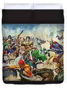 Alexander The Great At The Battle Of Issus  Duvet Cover
