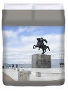 Alexander The Great, Thessaloniki, Greece Duvet Cover