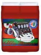 Alfa Romeo Indy Engine Duvet Cover