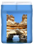 Algarve Rock Tunnel Duvet Cover