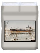 Algoma Hansa Blue Water River Walk Duvet Cover