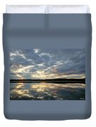 Algonquin Lake Sunset Duvet Cover