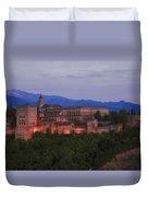 Alhambra Granada Dusk Duvet Cover