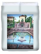 Alhambra Spain Reflections Duvet Cover