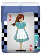 Alice 3d Flying Cards Duvet Cover