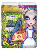 Alice And Absolem Duvet Cover