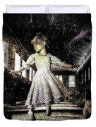 Alice And The Rabbit Duvet Cover by Bob Orsillo