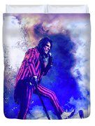 Alice Cooper On Stage Duvet Cover