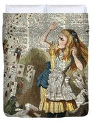 Alice In The Wonderland On A Vintage Dictionary Book Page Duvet Cover