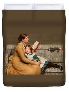 Alice In Wonderland Duvet Cover by George Dunlop Leslie