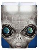 Alien From Space Duvet Cover