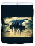 Alien Invasion By Raphael Terra Duvet Cover