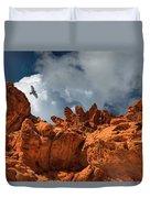 Alien Landscape Valley Of Fire Duvet Cover