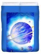 Alien Planet. Blue Light Of Hope Duvet Cover