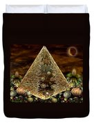 Alien Pyramid Duvet Cover by Peggi Wolfe