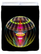 Alien Sphere Fractal Fantasy Duvet Cover