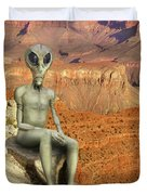 Alien Vacation - Grand Canyon Duvet Cover