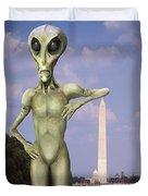 Alien Vacation - Washington D C Duvet Cover